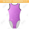 Leotard EKI 01S_F Raisin Fuchsia / Noir