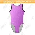 Leotard EKI 01S_K Raisin Fuchsia / Noir