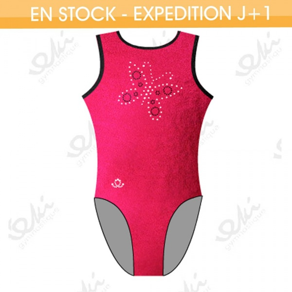 GYMWAY Justaucorps EKI 01S_L Rouge Fuchsia / Noir