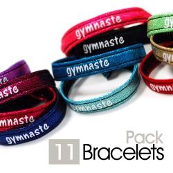 11 Bracelets EKI - Pack GYMNASTE - sans anneau