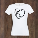 T-Shirt GYM HEART B&W