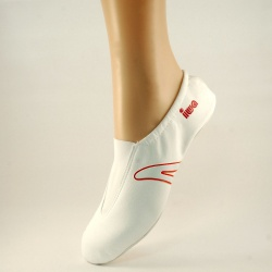 CHAUSSONS de GYM IWA / Blanc Rouge