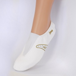 CHAUSSONS de GYM IWA / Blanc Or