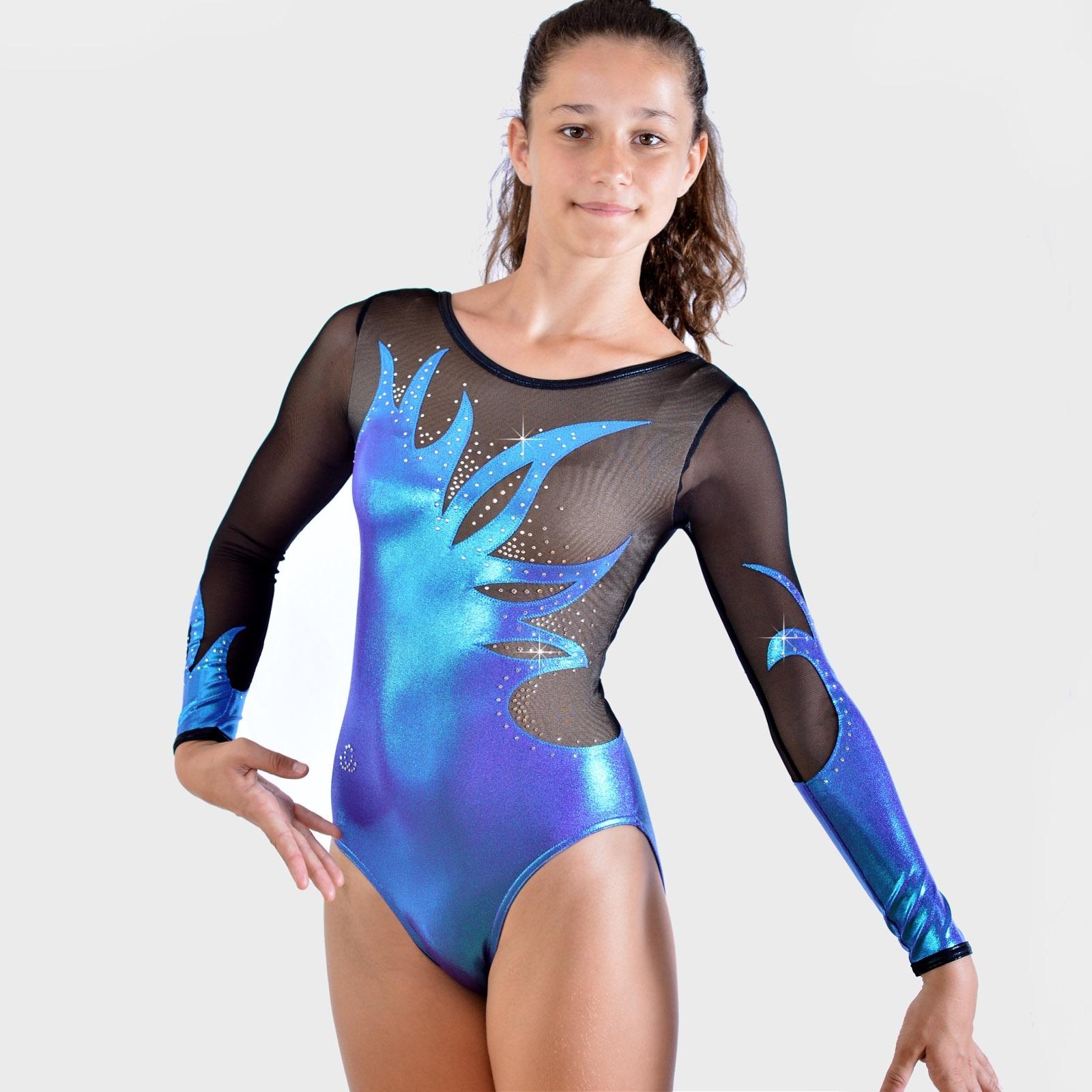 Leotard EKI long sleeves - 116M A - GYMWAY SARL 0c51fb7a543